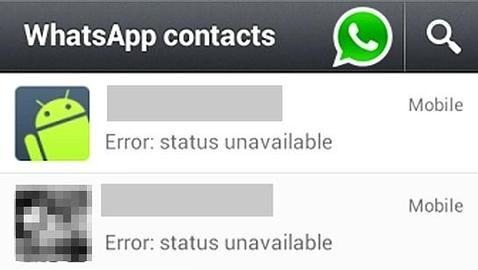 Status Unavailable en Whatsapp