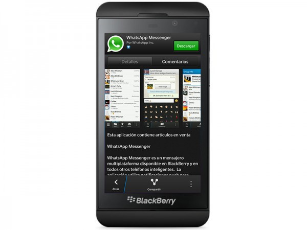 Whatsapp para BlackBerry 10